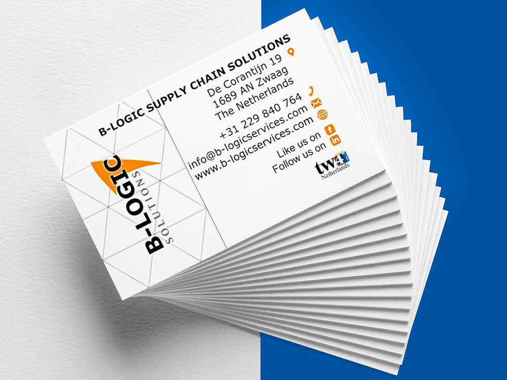 b-logic supply chain solutions business card